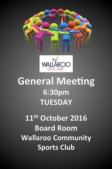 Wallaroo Golf Club  - AGM