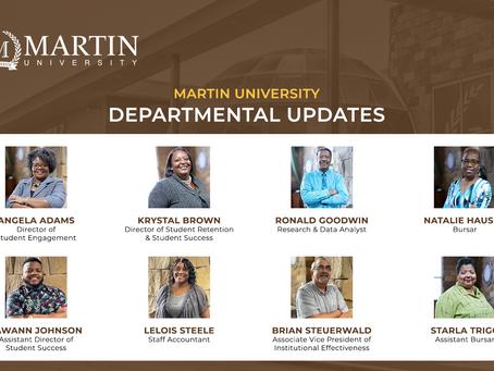 Martin University Announces Departmental Updates