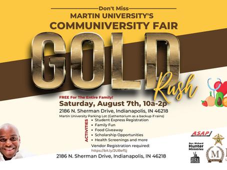 Martin University's Gold Rush Communiversity Fair
