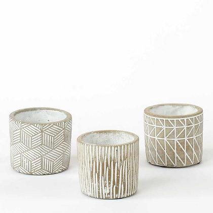 Little Trio Cement Pots