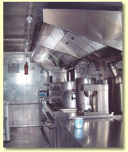 Food catering kitchen on film locati