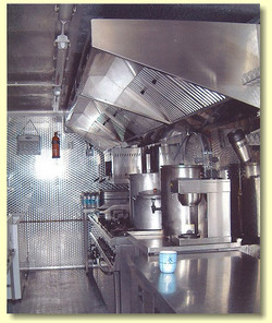 Food catering kitchen on film locati