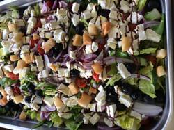 greek salad on film location
