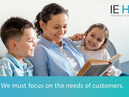 We must focus on the needs of customers.