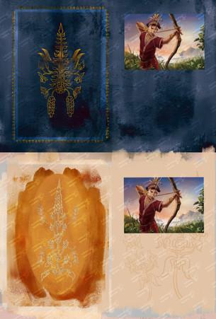 Raja Mandala Board Game - Card Design Concept