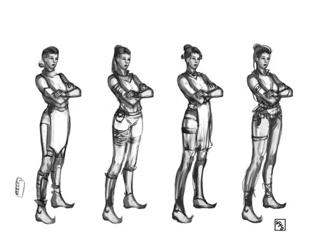 Costume Studies - Nesma, personal character from Warriors