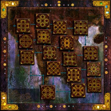Raja Mandala Board Game - Board Design