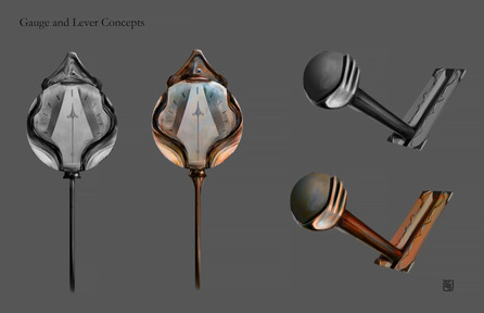 Steampunk Style Gauge and Lever Concept