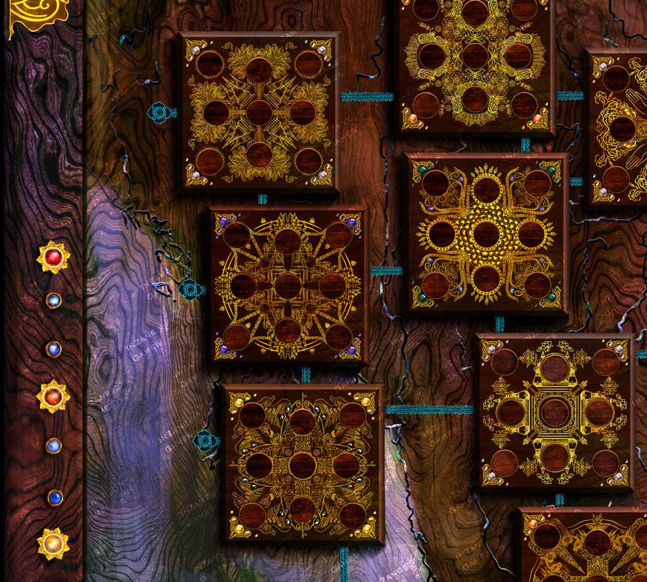 Raja Mandala Board Game - Board Design (Detail)