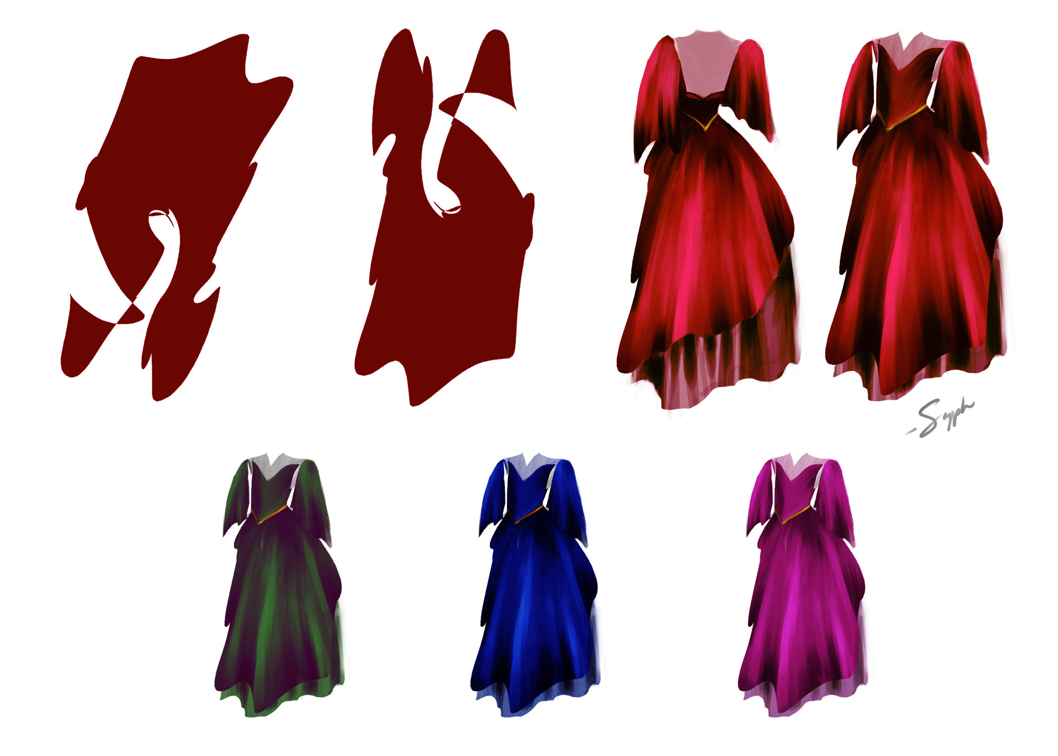 costume shape explorations