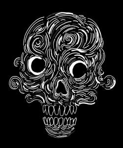 Wavy Skull invert
