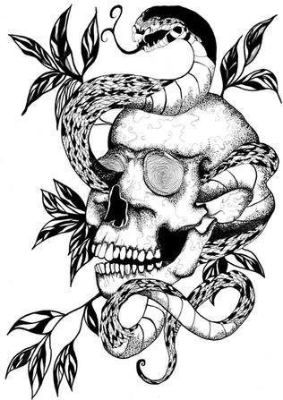 Skull and Serpant