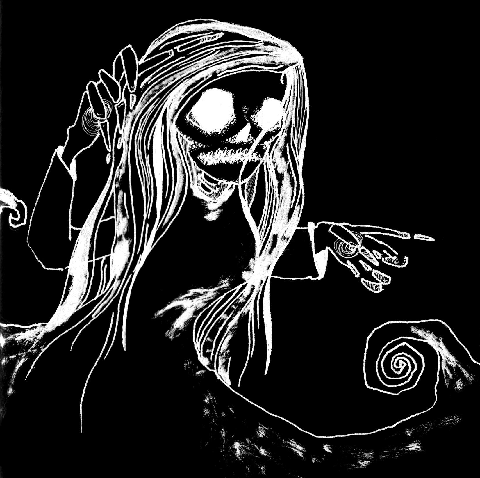 Skull girl invert v2