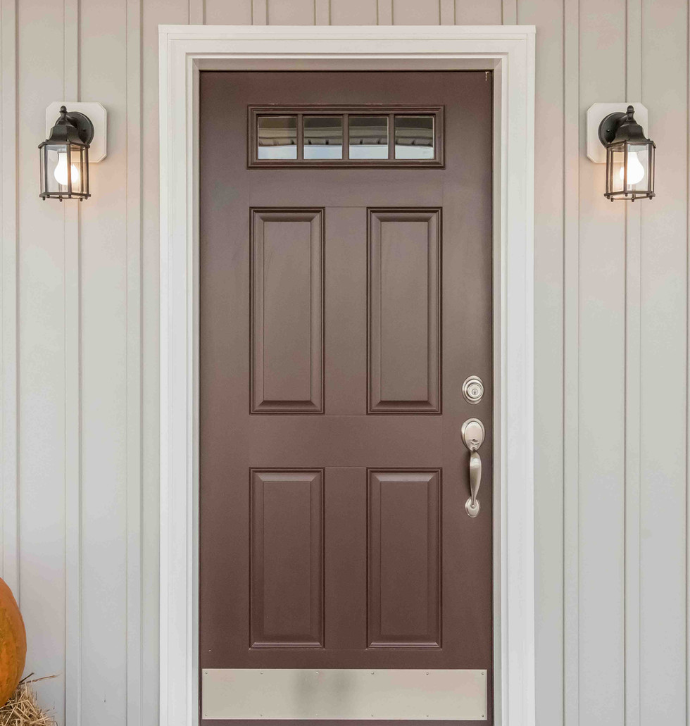 Front Door - ThermaTru Polished Mahogany