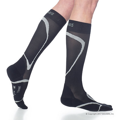 Traverse Sock 412 Black Calf High Compression 20-30mmHg