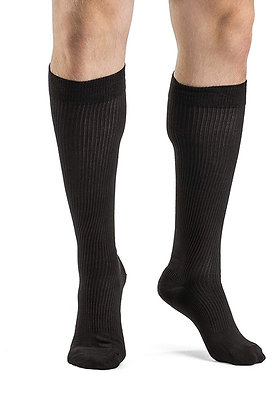 CASUAL COTTON Brown Closed Toe Calf Compression Socks Knee-High 15-20mmHg