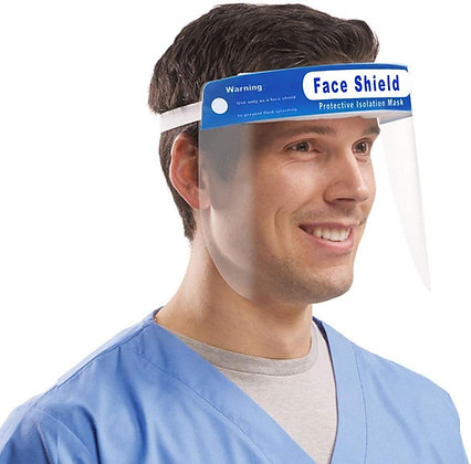 Safety Face Shield, Adjustable Elastic strip, Transparent Full Face Protection