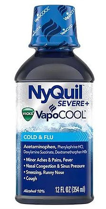 Vicks Nyquil Severe VapoCool Nighttime Cough, Cold and Flu Relief