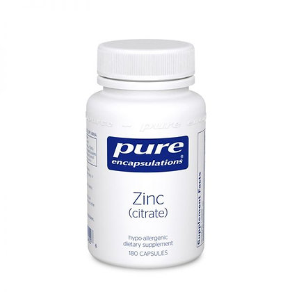 Zinc (citrate) 180 caps