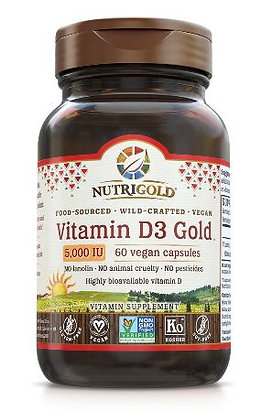 Vitamin D3 Gold 5000 IU 120 Vegan Capsules