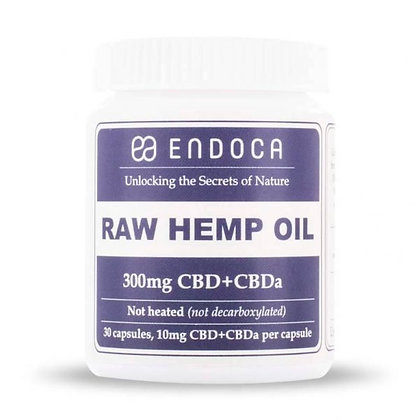 CBD oil capsules RAW Hemp Oil Capsules 300mg of CBD+CBDa