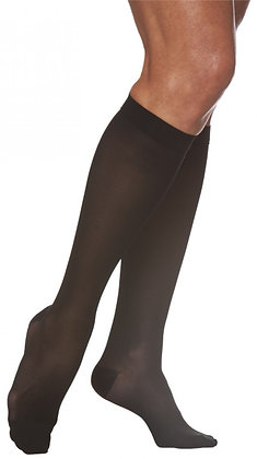 EVERSHEER Women's Black Closed Toe Calf Compression Socks Knee-High
