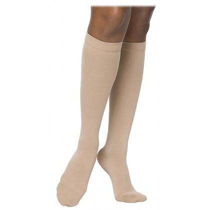 SELECT COMFORT Women's Nude Closed Toe Calf Compression Socks Knee-High
