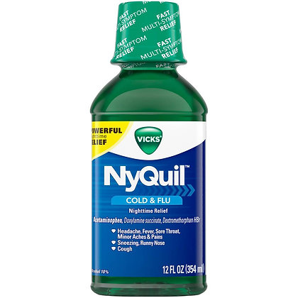 Vicks NyQuil Nighttime Original Flavor, 12 Fl oz