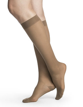 EVERSHEER Women's Suntan Closed Toe Calf Compression Socks Knee-High