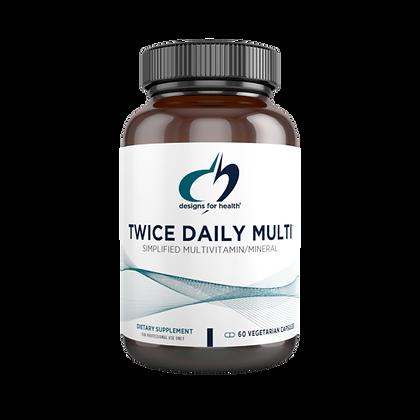 Twice Daily Multi™ 60 vegetarian capsules