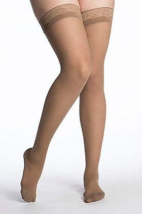 EVERSHEER Women's Suntan Closed Toe Compression Stocking Thigh-H
