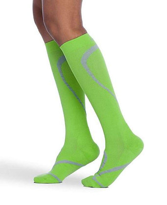 Traverse Sock 412 Lime Calf High Compression 20-30mmHg