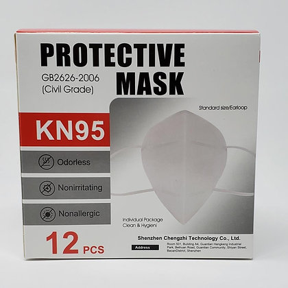 KN95Protective Mask, 12 Count