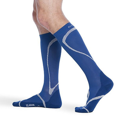 Traverse Sock 412 Blue Calf High Compression 20-30mmHg