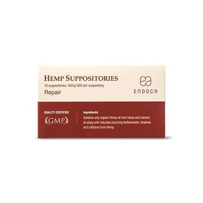 Hemp Suppositories 500 mg (50mg per suppository)