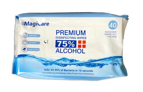 Premium Disinfecting Wipes, 75% Alcohol 40 Count