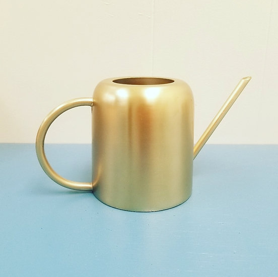 Small Gold Metal Watering Can
