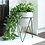 Thumbnail: White Cement Planter with Black Iron Stand.