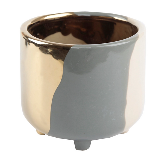 3-Tone Ceramic Footed Planter