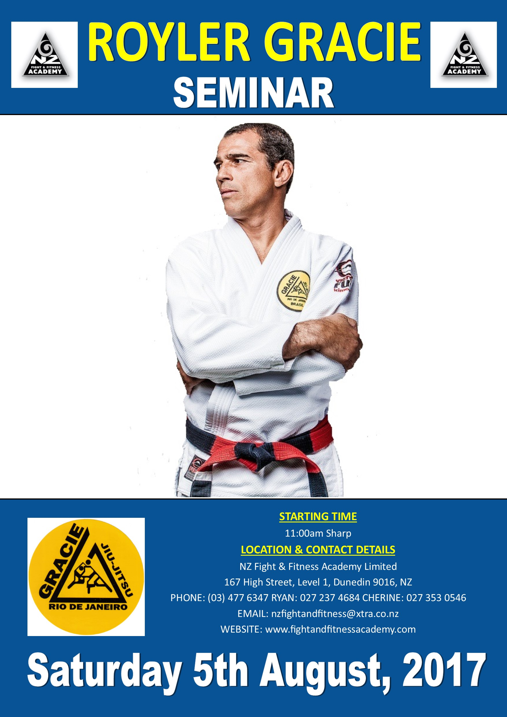 Royler Gracie Seminar - 10 Spots Left | NZ FIGHT & FITNESS