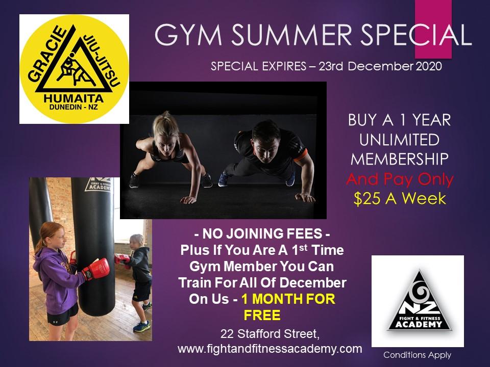Summer Gym Special