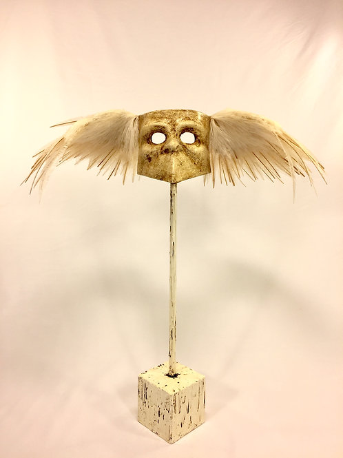 """VENICE ANGELS - """" Street angel"""" cream white ostrich feathers-large wings"""