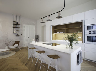 KITCHEN WITH A PARK VIEW