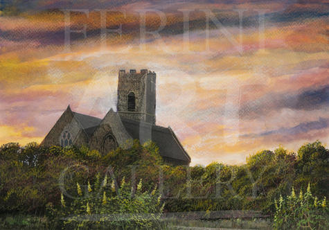 Sunset Over Pakefield Church