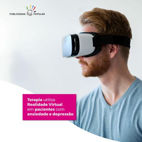 Terapia utiliza Realidade Virtual em pacientes com ansiedade e depressão