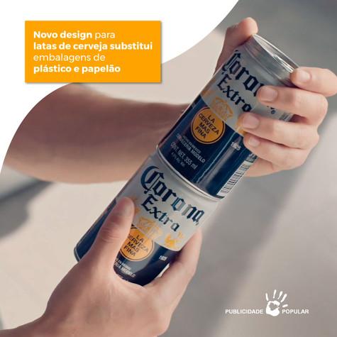 Novo design para latas de cerveja substitui embalagens de plástico e papelão