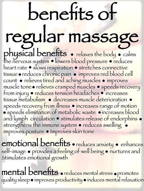 benefis of Massage Samata Wellness Solutions