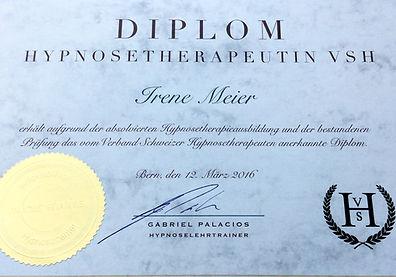 Diplom Irene Meier, Hypnosetherapeutin VSH, Stäfa