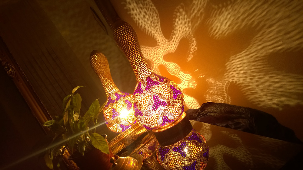 Beyond Dreams, a gourd lamp design I would call my pride and joy.