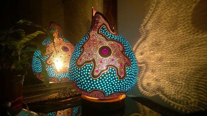 gourd lamps, unique gift ideas, aniversary gifts, lighing design